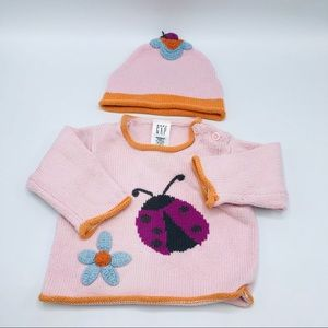 Baby Gap Knitted Sweater & Hat Set